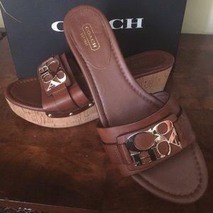 Coach mule sandals